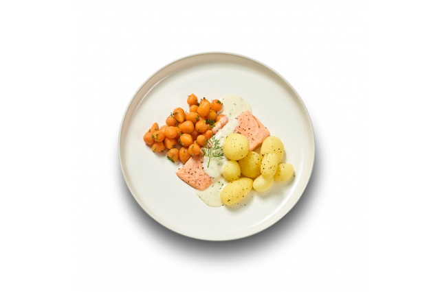 ZALMFILET DILLESAUS PARIJSE WORTEL KRIEL